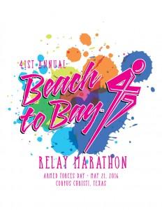 2016 Beach to Bay Marathon Logo